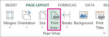 Set Print Area.