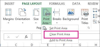 Clear a print area