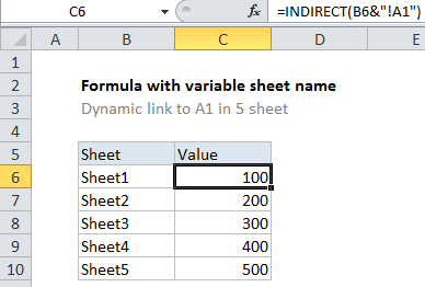 How to create dynamic worksheet reference in Excel - Excel Office