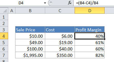 How to calculate profit margin percentage in Excel - Excel